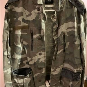 Urban Outfitters Camo Jacket with Leather Details